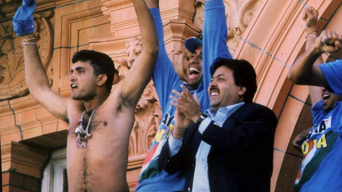 File photo of Sourav Ganguly on the Lord's balcony after the famous win against England.