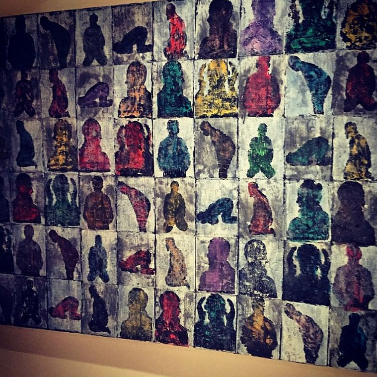 A funky painting by Salman Khan gifted to his sister Arpita.