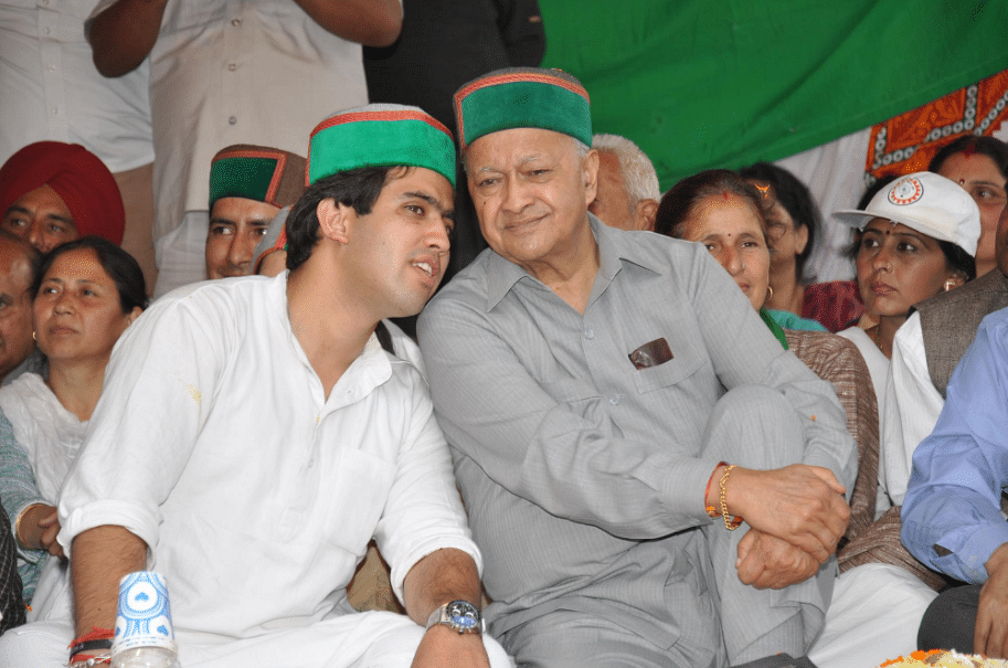 Vikamaditya Singh with his father.