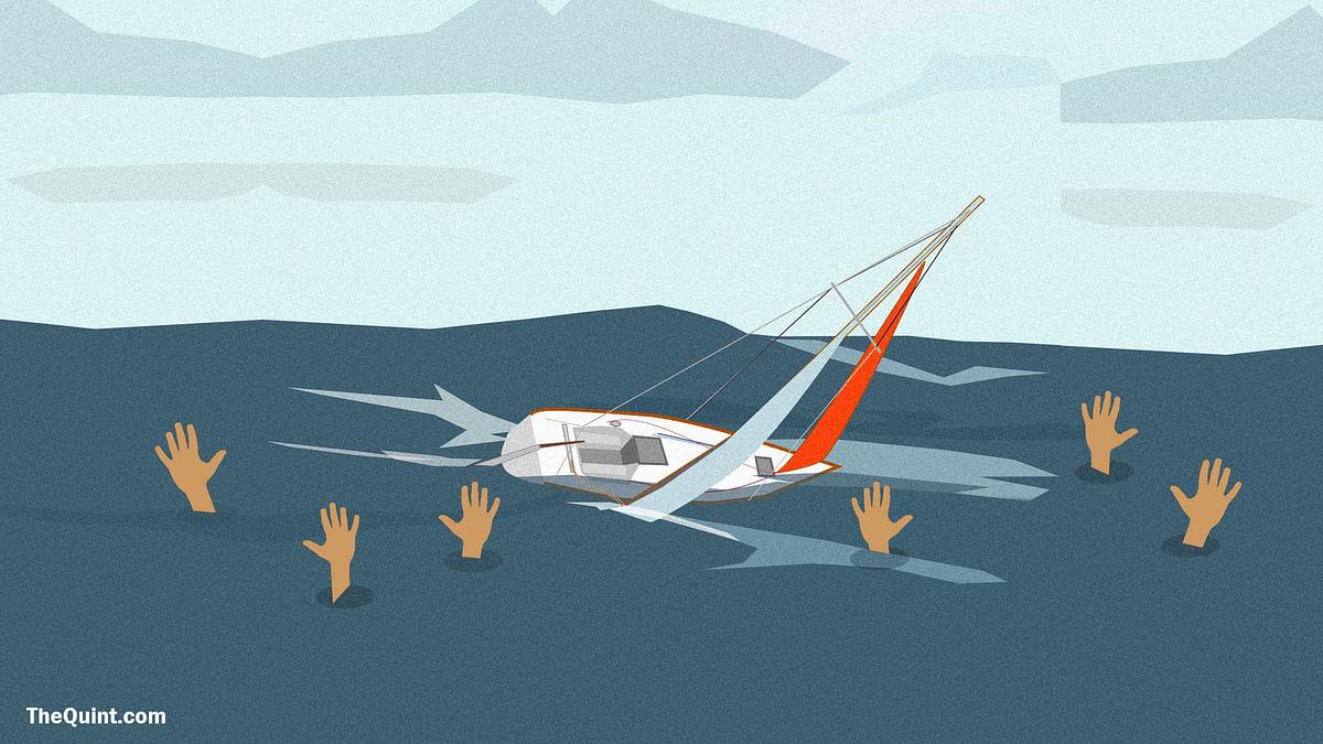 Representational image of capsized boat.