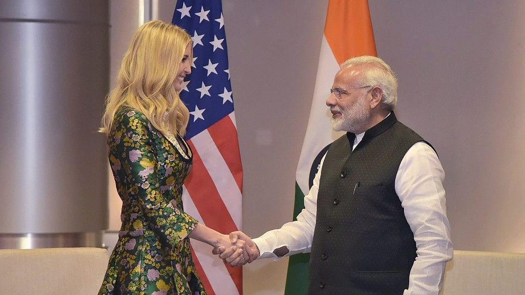 Ivanka Trump and PM Modi at the Global Entrepreneurship summit in Hyderabad. Image used for representational purpose.
