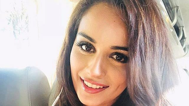 Manusi Chhillar on the morning of the Miss World finale.