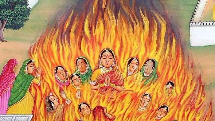 Rani Padmavati doing jauhar. Representational image.