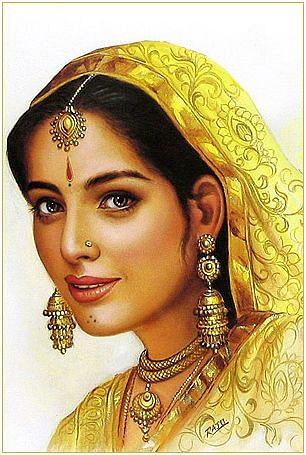 Portrait of Rani Padmavati of Chittor, Rajasthan.