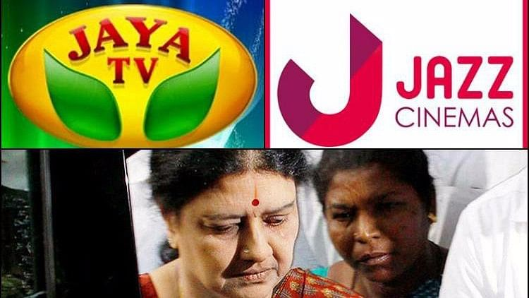 I-T raids conducted at the offices of Sasikala-associated businesses.