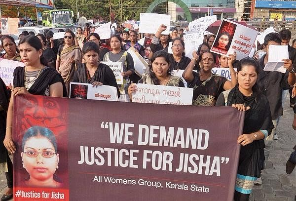 The 'All Womens Group' in Kerala demands for justice in Jisha's case.