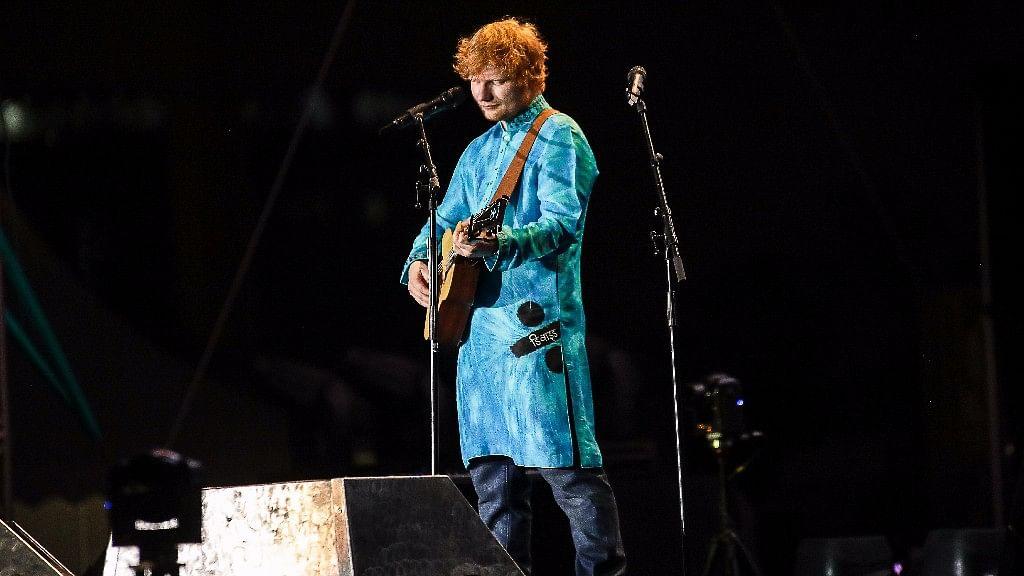 Ed Sheeran at the 'Divide' concert in Mumbai on Sunday