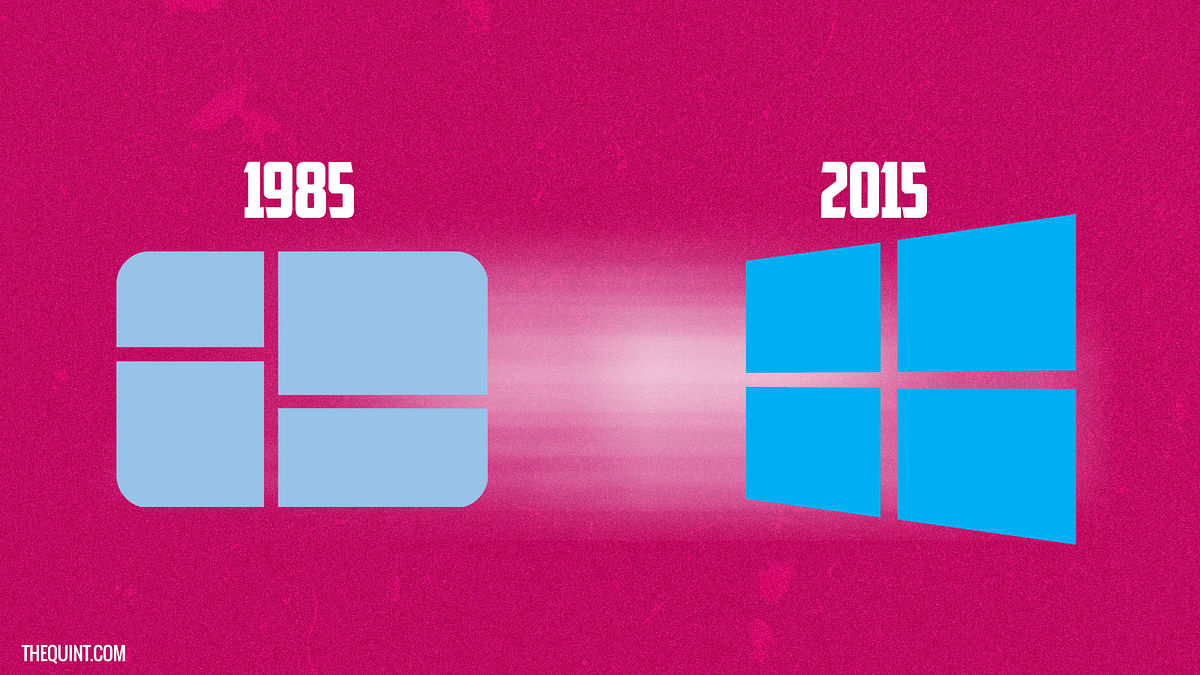 The evolution of Windows from 1985 to 2015