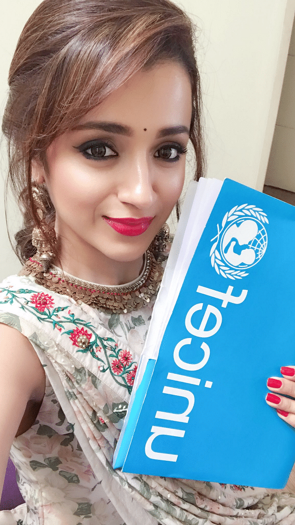 Trisha Krishnan will lend support to efforts to address issues such as anaemia, child marriage, child labour and child abuse, especially in Tamil Nadu and Kerala.