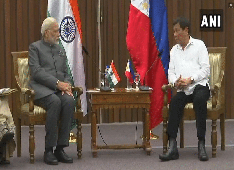 PM Modi with Philippines President Rodrigo Duterte.