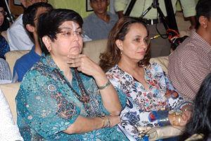 Kalpana Lajmi with Soni Razdan.