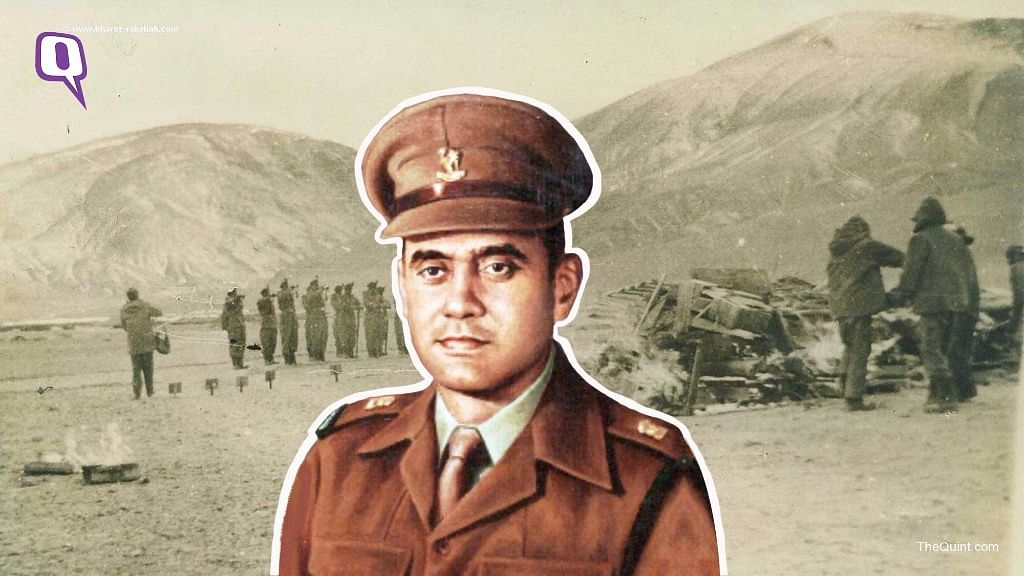 Major Shaitan Singh, crawled from trench to trench, personally motivating his men under withering fire even though he was himself wounded.