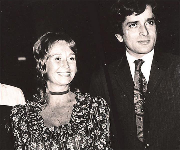 Shashi Kapoor with his wife Jennifer.