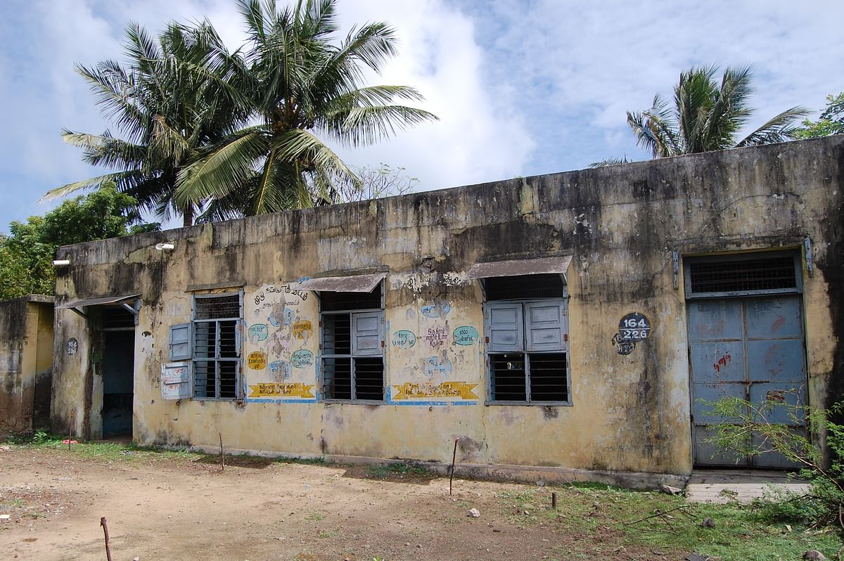 The 2004 tsunami completely tore down the Union Middle School of Keechankuppam.
