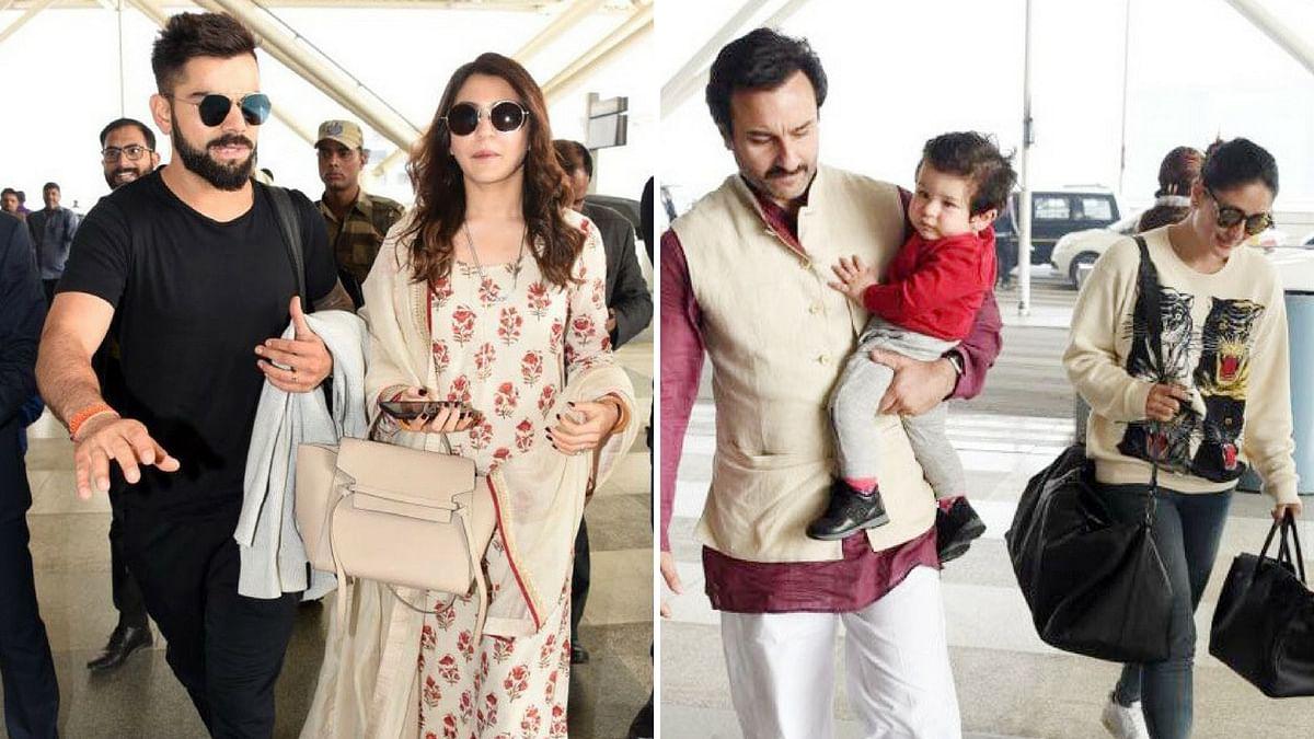 Kareena-Saif With Taimur; Virat-Anushka Spotted at the Airport