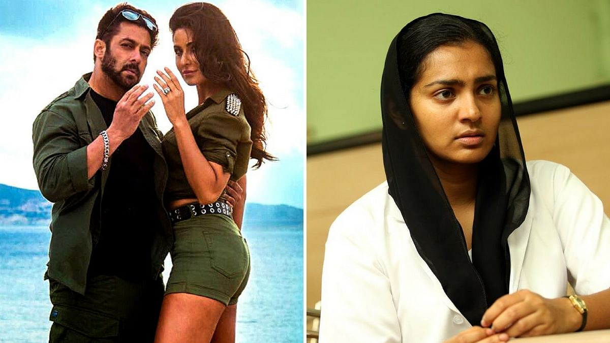 <p>A (song) scene from <i>Tiger Zinda Hai</i> juxtaposed against a scene from <i>Take Off.</i></p>