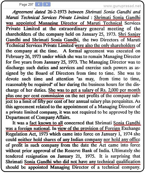 """An excerpt from the now """"lost"""" Shah Commission report. Both Indira and Sanjay Gandhi had refused to cooperate and testify in front of the commission."""