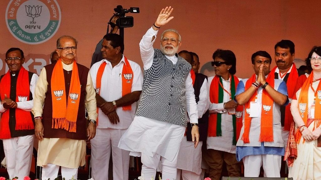 File image of PM Narendra Modi at an election rally.