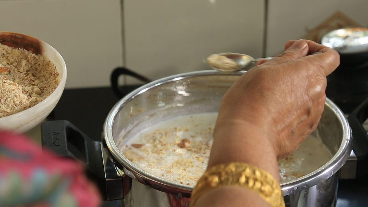 Tripta Thapar's kheer is rich with cashews and almonds.