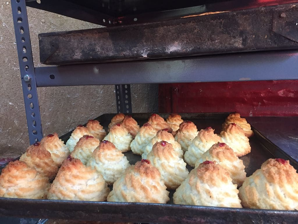 Coconut macaroons at Saldanha's bakery.