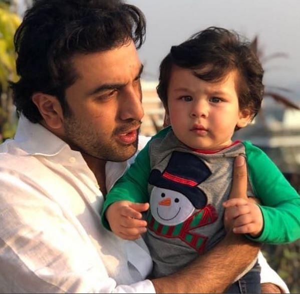 Cuteness Alert: Taimur Ali Khan with mamu Ranbir Kapoor.