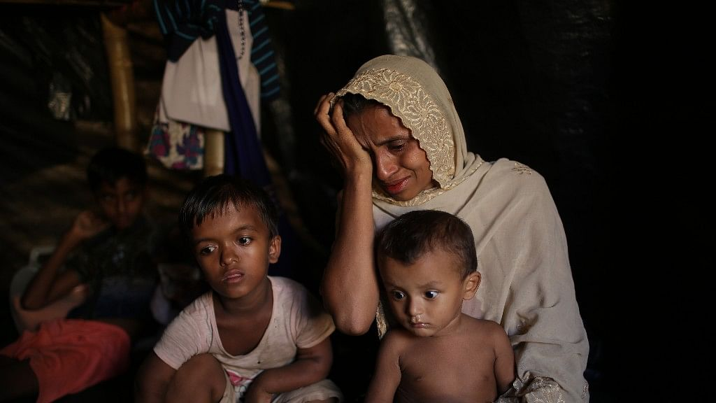 <p>On 26 November 2017, Jamila Begum, 35, cries when talking about how members of Myanmar's armed forces in Myanmar's Rakhine State, killed her son and husband.</p>