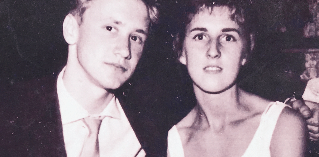 A young Bob and Jean out on a date.