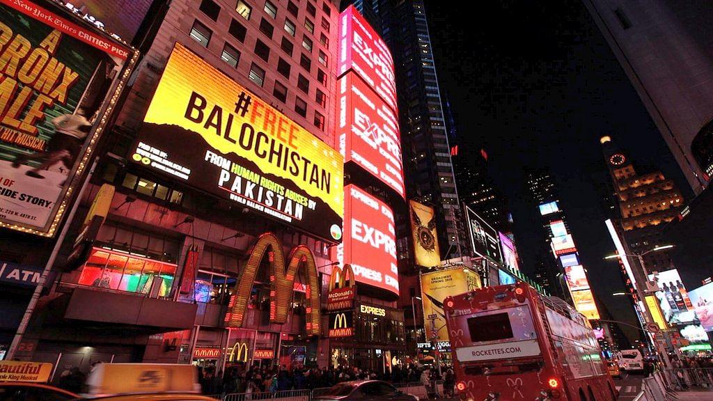 #FreeBalochistan Billboards Seen at New York's Times Square