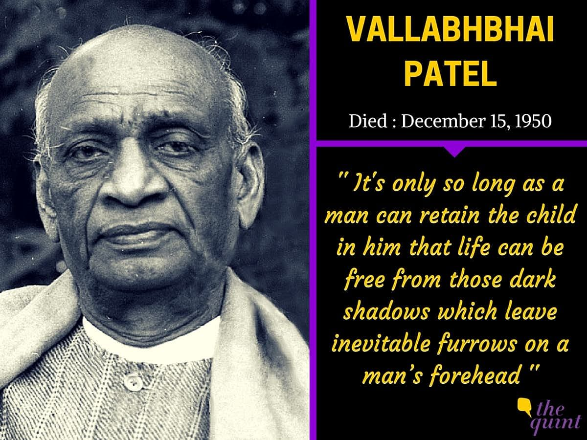 Remembering Sardar Patel's Vision, Legacy on His Death Anniversary