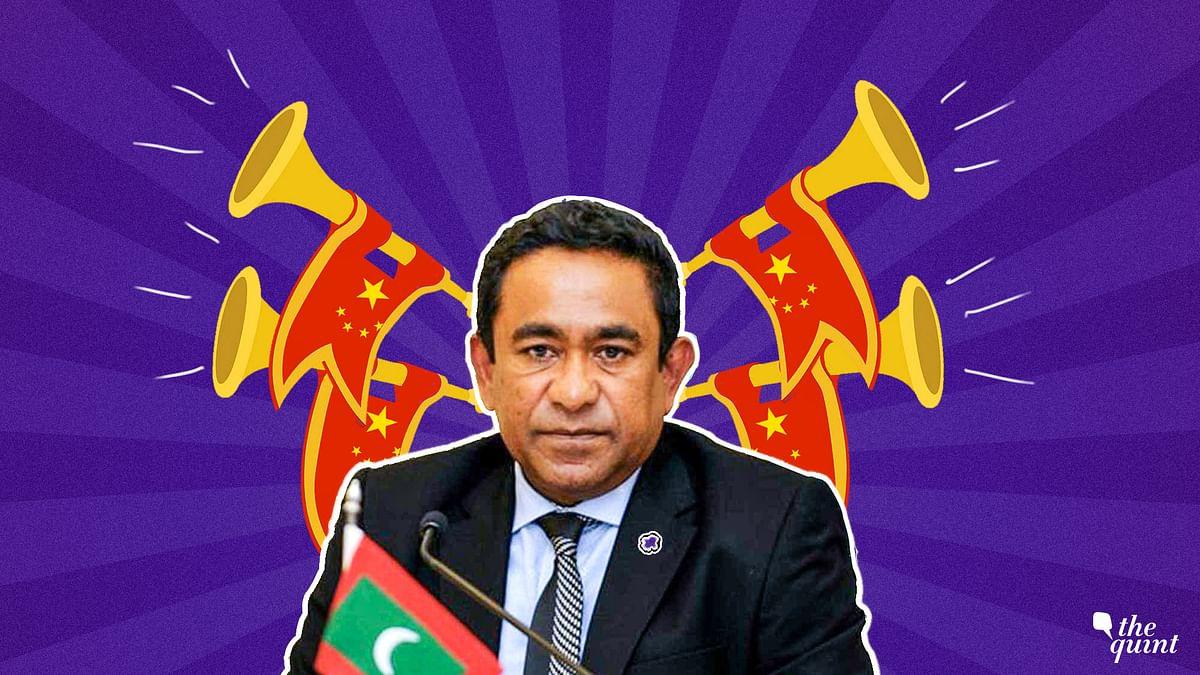 Maldivian President Yameen has been tilting towards China at India's expense.