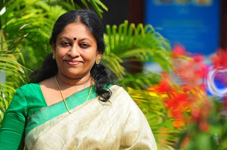 <p>File picture of Malayali feminist writer KR Meera.</p>