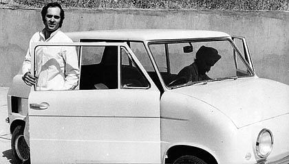 Sanjay Gandhi exits the first model of the Maruti Car.