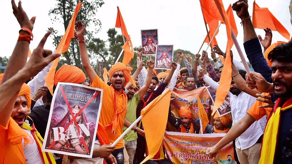 Protests against the release of <i>Padmavati.</i>