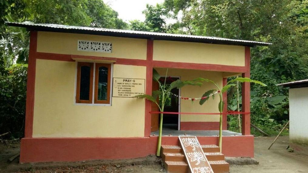 <p>A house constructed under the Pradhan Mantri Awas Yojana-Gramin.</p>
