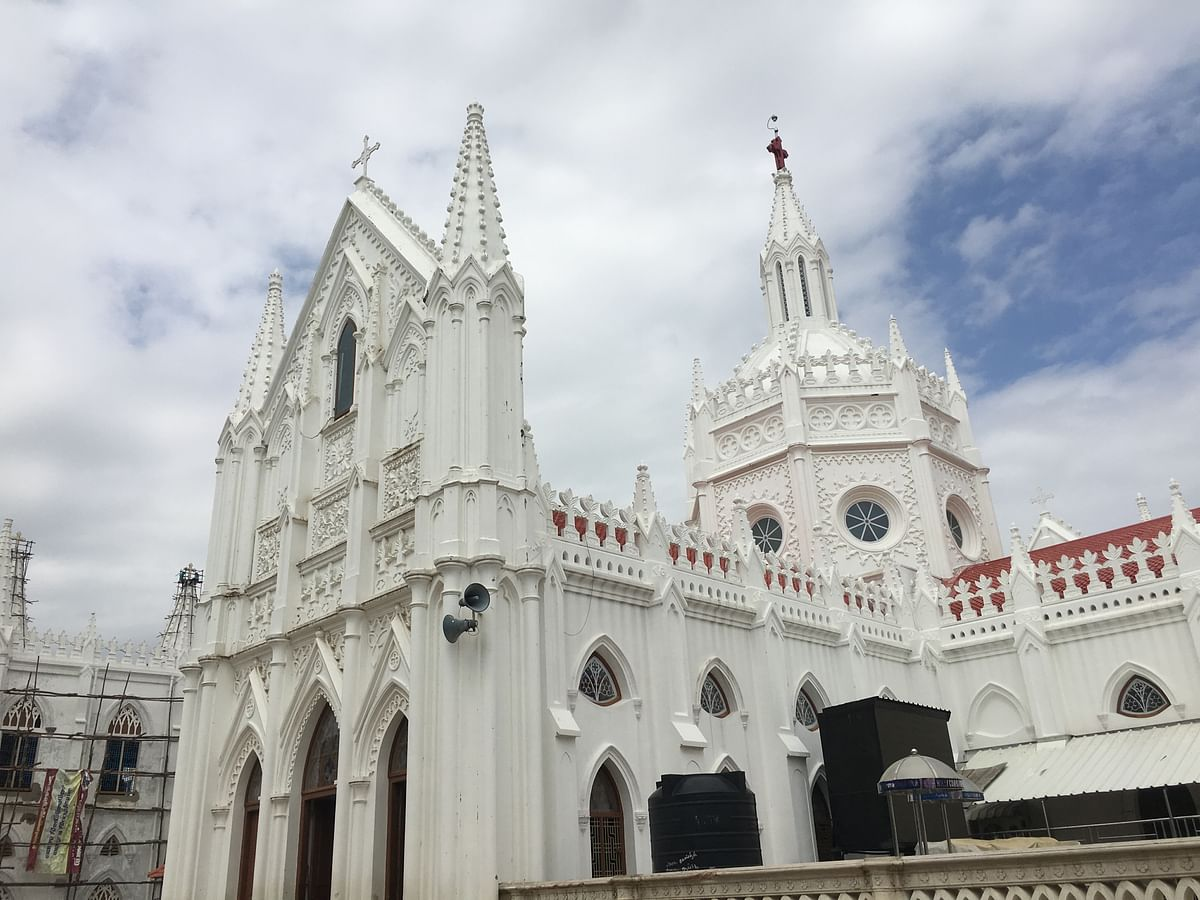 After tsunami struck, the dead bodies were laid out in front of the Velankanni shrine for people to identify.
