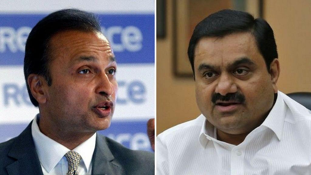 <p>Anil Ambani and Gautam Adani.&nbsp;</p>