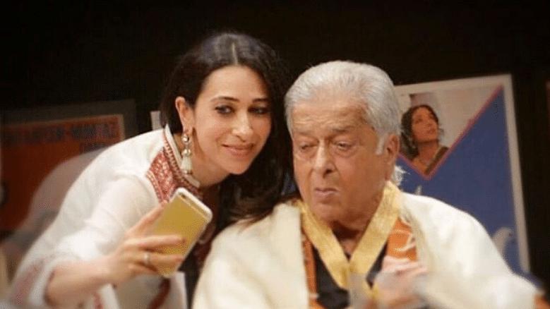 Karisma Kapoor with Shashi Kapoor.
