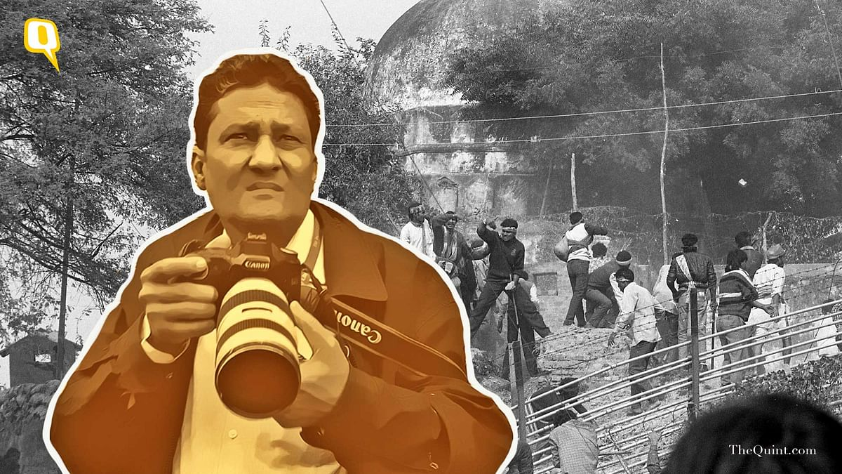 Praveen Jain, the man who photographed the rehearsal for the Babri demolition.