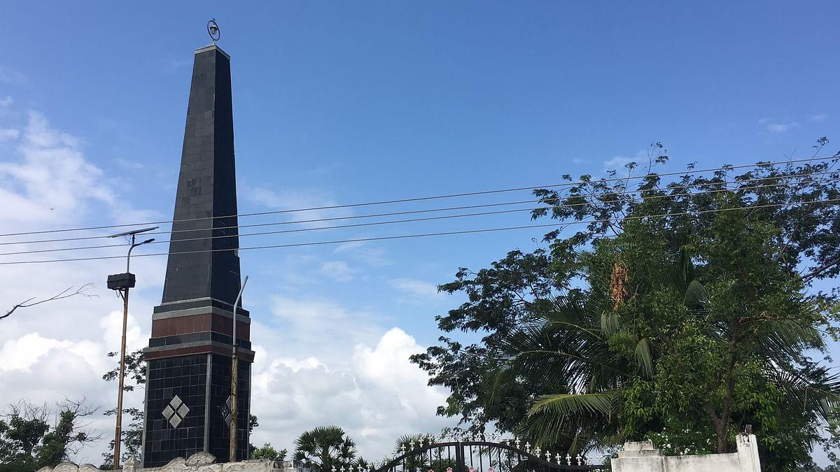 Memorial erected in Velankanni, Nagapattinam, Tamil Nadu in memory of the 2004 tsunami.