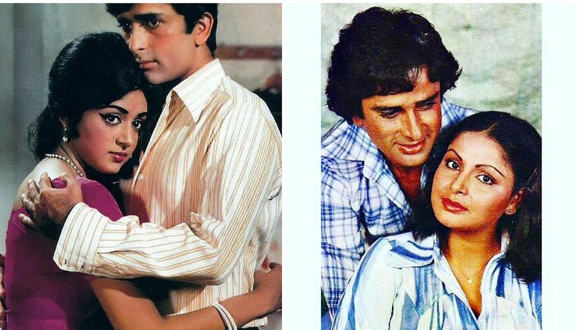 Shashi Kapoor's onscreen romances, Hema Malini and Raakhee Gulzar.
