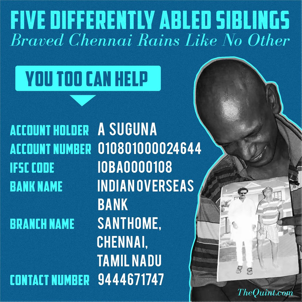 Five Differently Abled Siblings Braved Chennai Rains Like No Other
