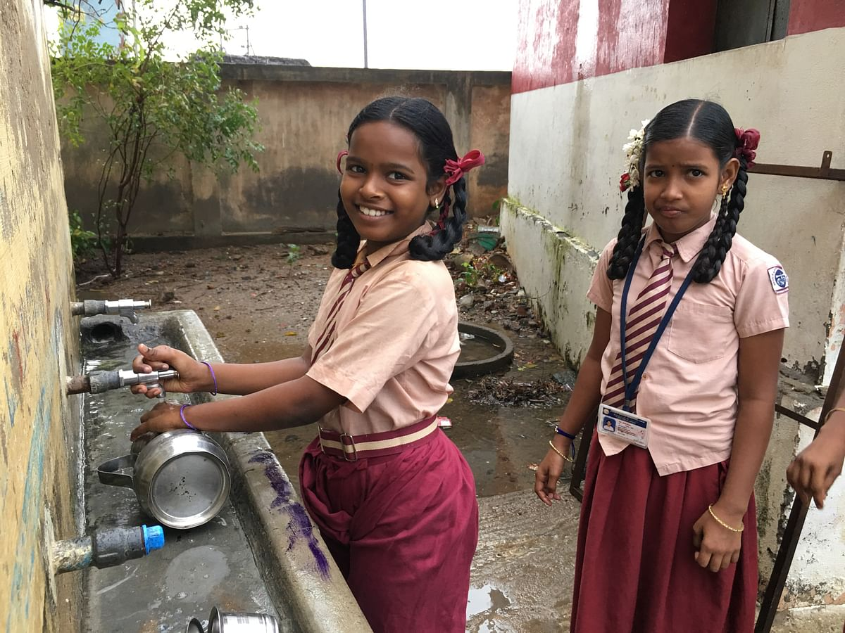 Everyday the children are taught to lead a hygienic, clean life.