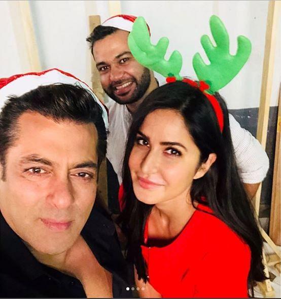 Katrina, Salman with their 'Tiger Zinda Hai' director Ali Abbas Zafar