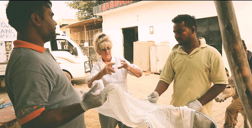 Jean instructing her staff.