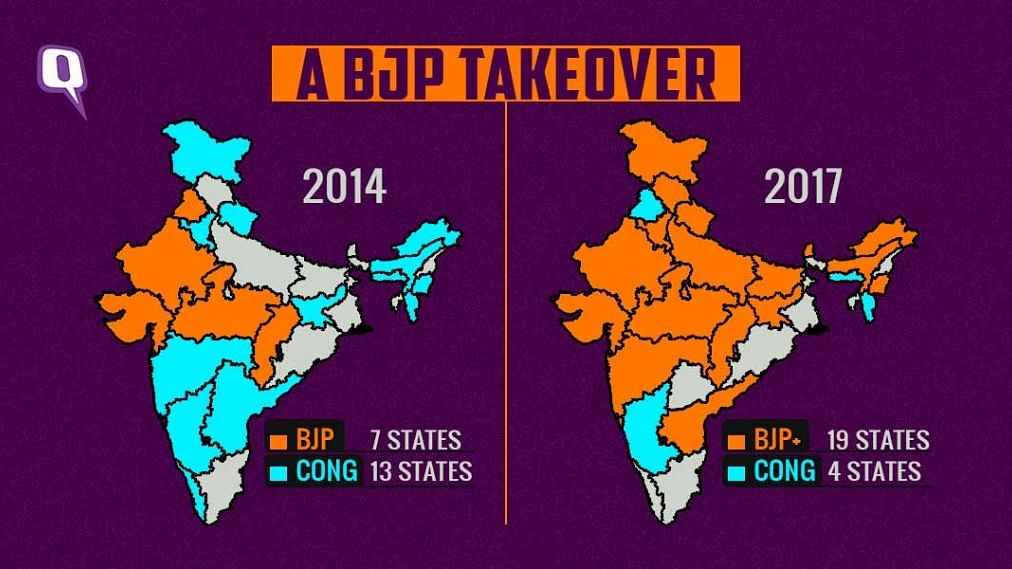 After winning Himachal Pradesh, the BJP now has a presence in 19 states, as compared to only seven in 2014.