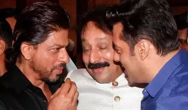 Actors Shah Rukh Khan and Salman Khan with Chhota Shakeel. The Quint could not independently verify the authenticity of this photo.