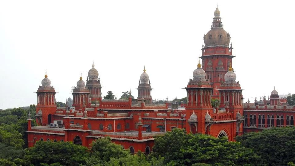 A view of the grand Madras High Court building.