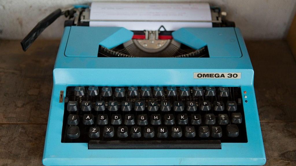 A 1970s Bulgarian portable Omega 30 typewriter.