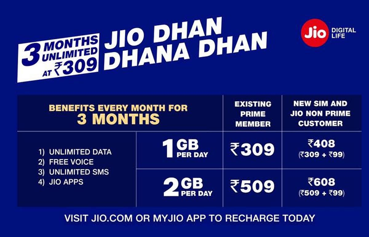 Dhan Dhana Dhan offers from Jio.