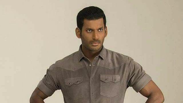 Tamil actor Vishal.